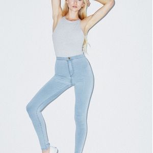 NWT American Apparel Easy Jeans Light Blue
